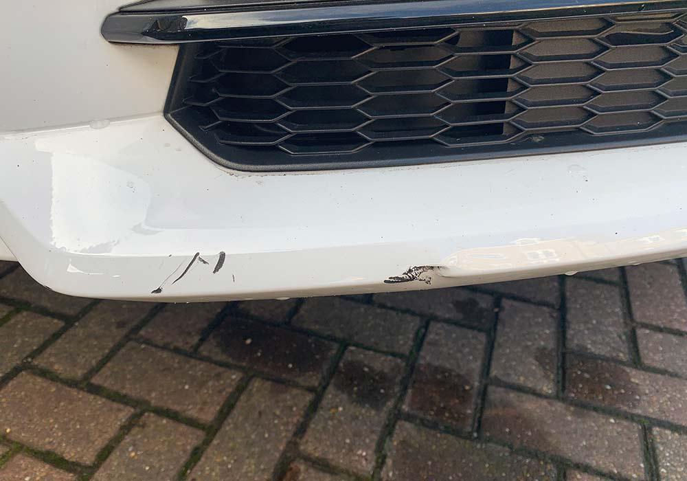 Audi Q3 Front Valance Scraped Bumper