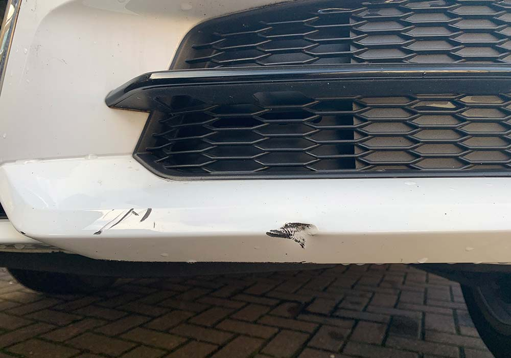 Audi Q3 Front Valance Chipped Paint